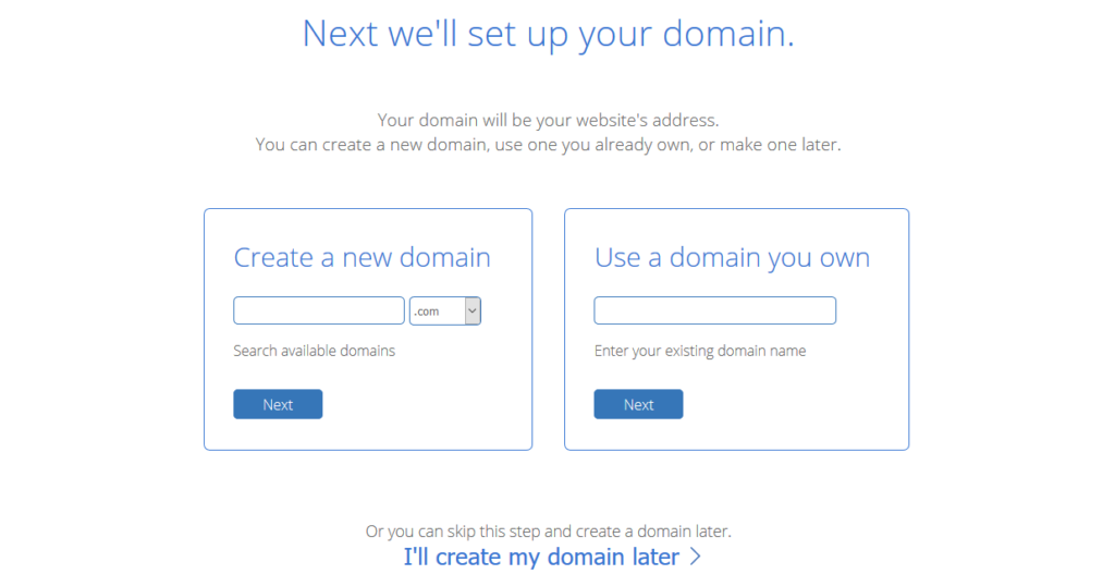 BH setup a domain name